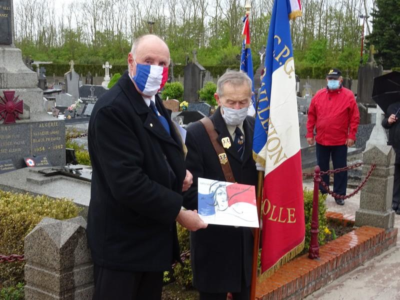 Un porte-drapeau à l'honneur