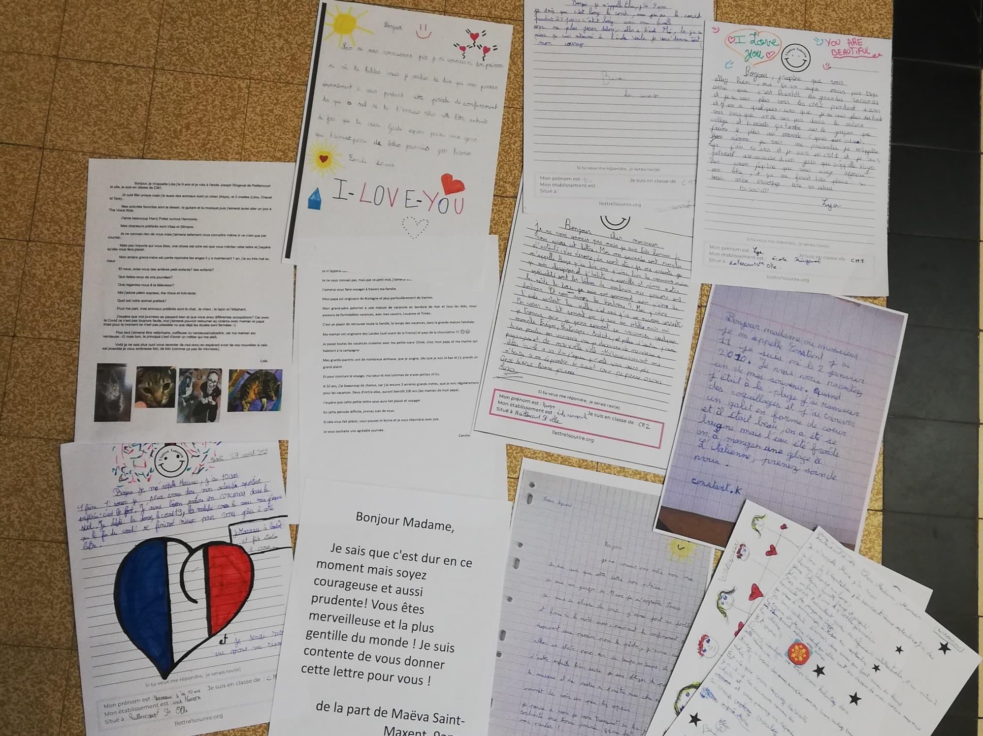 Ecrire une lettre pour donner le sourire